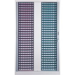 Armoire fixe à rideaux 40 plateaux PILAT MODULO
