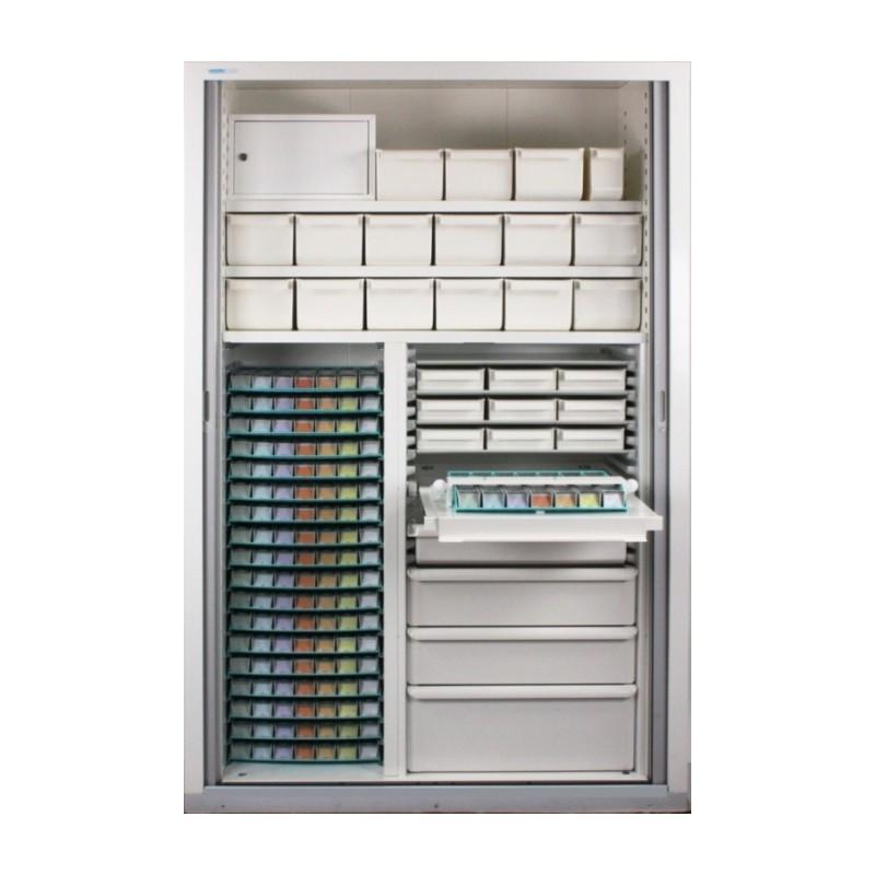 Armoire à rideau L131 x H200 x P53 cm