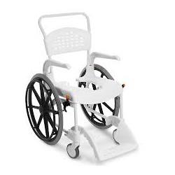 Chaise de douche CLEAN grande roue blanc