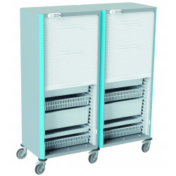Armoire mobile double de stockage NEOP 600 x 400