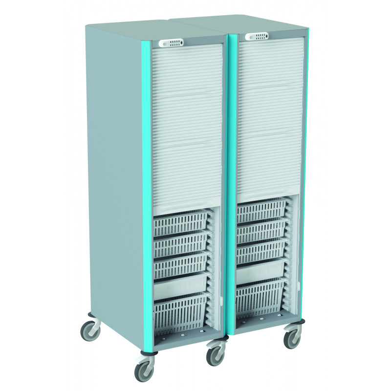 Armoire mobile double de stockage NEOP 400 x 600