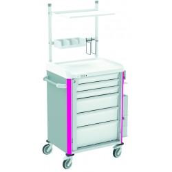 Chariot d\'anesthésie équipé NEOP 600 x 400