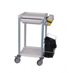 Chariot AGILY 2 tablettes- 1 tiroir 400 x 400