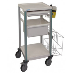 Chariot AGILY 2 tablettes- 3 tiroirs 400 x 400