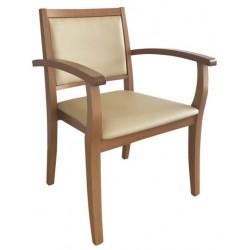 Chaise avec accoudoirs LIZA dossier bas