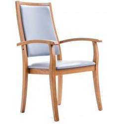 Chaise avec accoudoirs LIZA dossier très haut