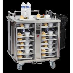 Chariot de distribution des repas motorisé - version double chaud