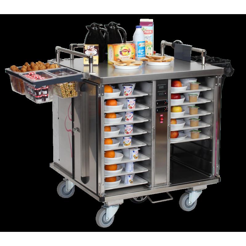 Chariot de distribution des repas motorisé - version double froid