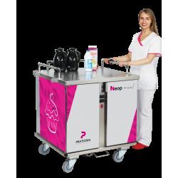 Chariot de distribution des repas motorisé - version chaud/froid